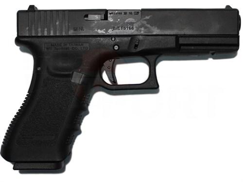 Пистолет газовый WE Glock 18С gen.4 блоубек, металл, грин-газ, автомат - фото 20312