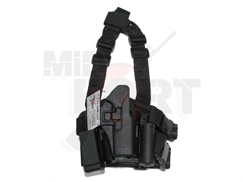 Кобура набедр. пластик с быстр. доступом репл. Blackhawk CQC черн. для Glock17 - фото 20916