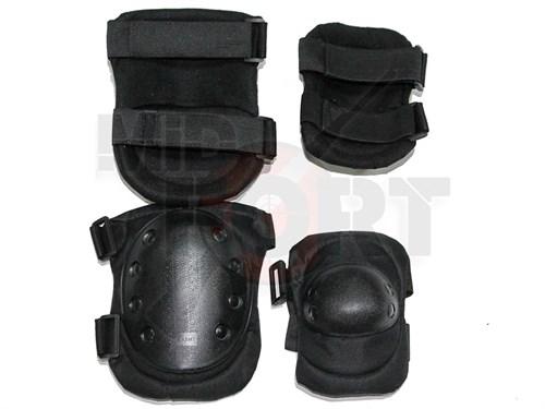 Наколенники+налокотники SWAT черные - фото 21190