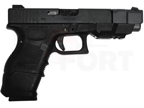 Пистолет газовый WE Glock 26С блоубек, металл, грин-газ - фото 21439