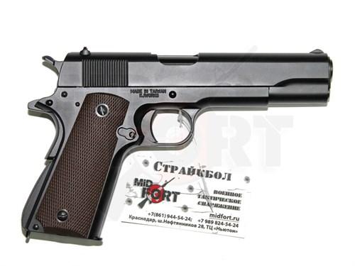 Пистолет газовый KJW Colt 1911 блоубек, металл, грин-газ