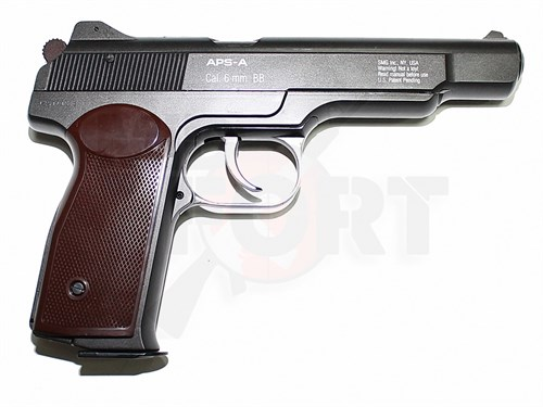Пистолет газовый Gletcher APS-A металл, блоубек, CO2