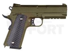 Пистолет спринг Galaxy Colt 1911 PD Rail песочный
