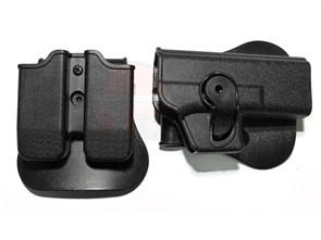 Кобура пластиковая для Glock17 /черная