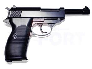 Пистолет газовый WE WALTHER P38 блоубек, металл, грин-газ