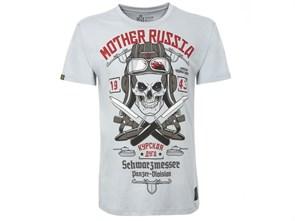 Футболка Mother Russia Дивизия черных ножей серый