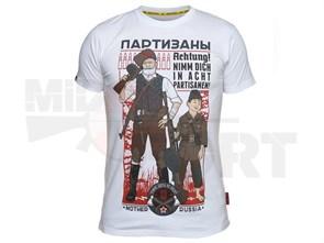 Футболка Mother Russia Партизаны 2 белый