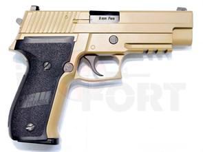 Пистолет газовый WE SigSauer P226 блоубек, металл, тан, грин-газ