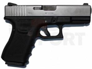 Пистолет газовый WE Glock 23 gen.3 блоубек, металл, грин-газ, автомат