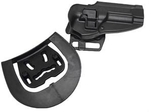 Кобура поясная CM пластик с быстр. доступом для Beretta M92 репл. Blackhawk CQC Черная