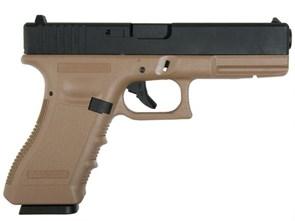 Пистолет газовый KJW Glock 17 металл, грин-газ, тан