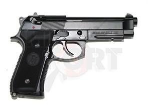 Пистолет газовый KJW Beretta M9A1 блоубек, металл, черн.ствол, грин-газ