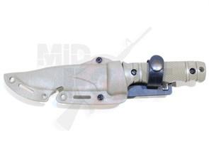 Штык-нож резиновый SOG M37 HY016 с ножнами песочный
