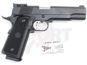 Пистолет газовый WE Colt 1911 B-version блоубек, металл, 2 магазина, грин-газ