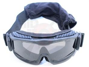 Очки тактические TD RK-6 черные 3 сменные линзы