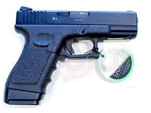 Пистолет газовый KSC Glock 23F блоубек, металл, грин-газ /G23F