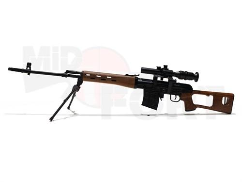 Сувенирная сборная модель винтовки RVD /1:6 масштаб - фото 17807