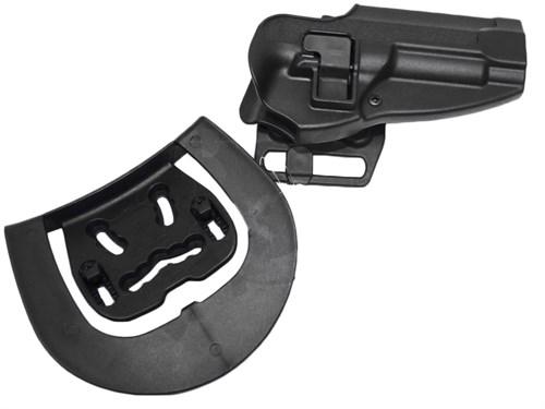 Кобура поясная CM пластик с быстр. доступом для Beretta M92 репл. Blackhawk CQC Черная - фото 20919
