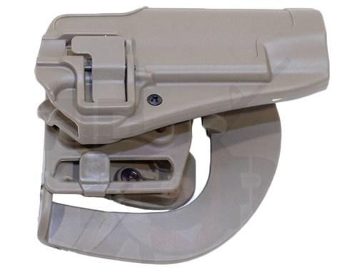 Кобура поясная CM пластик с быстр. доступом для Beretta M92 репл. Blackhawk CQC Тан - фото 20921