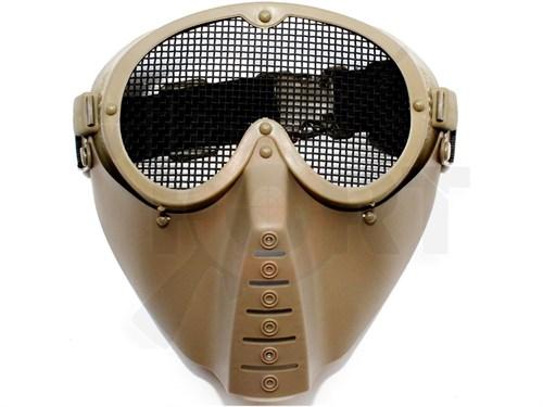 Маска защитная полнолицевая Vader V.2 тан - фото 21182