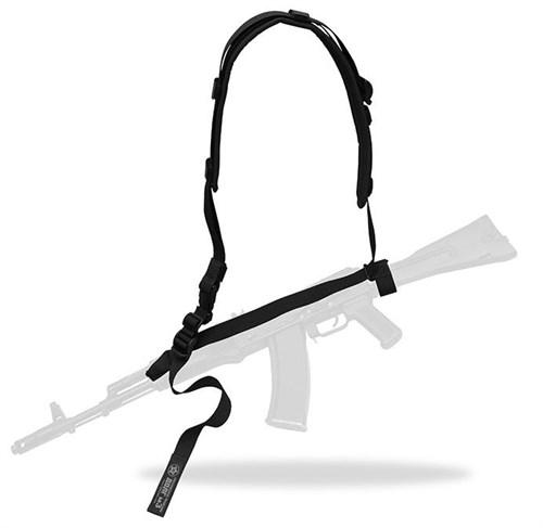 Ремень трехточечный ДОЛГ М3 черный, универсальный - фото 32279