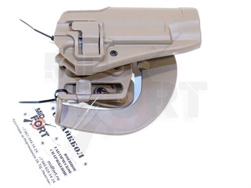 Кобура поясная CM пластик с быстр. доступом для Glock17 репл. Blackhawk CQC Тан - фото 7159
