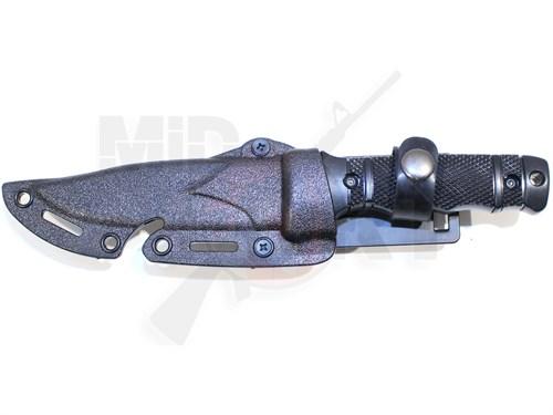 Штык-нож резиновый SOG M37 HY016 с ножнами черный - фото 7245