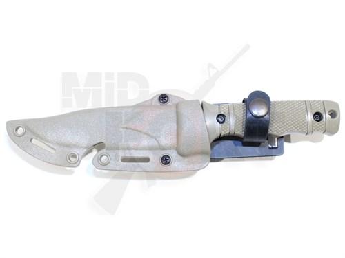 Штык-нож резиновый SOG M37 HY016 с ножнами песочный - фото 7247
