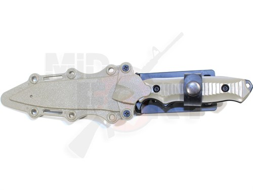 Штык-нож резиновый 141 Nimravus Tanto с ножнами тан /HY017 - фото 7249