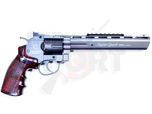 Пистолет газовый Win Gun Revolver 8inch черный, металл, CO2 - фото 7449
