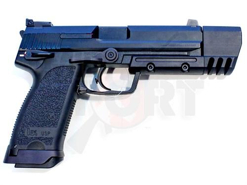 Пистолет газовый KSC USP.45 Match блоубек, металл, грин-газ - фото 7663
