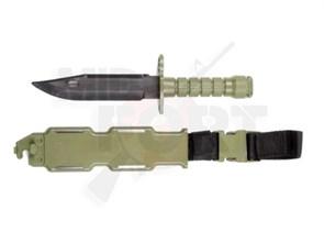 Штык-нож резиновый M9 с ножнами тан