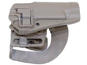 Кобура поясная CM пластик с быстр. доступом для Beretta M92 репл. Blackhawk CQC Тан