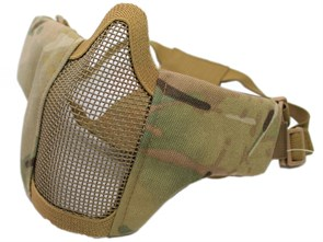 Маска на нижнюю часть лица War Game ткань/ сетка/ мультикам