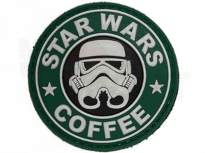 Нашивка Badband PVC Star wars coffee штурмовик