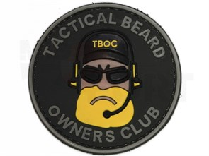Нашивка Badband PVC Tactical beard желтая