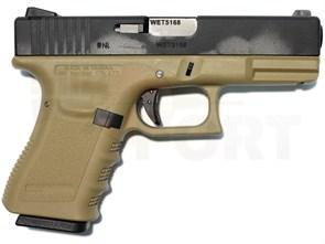 Пистолет газовый WE Glock 19 gen.3 тан