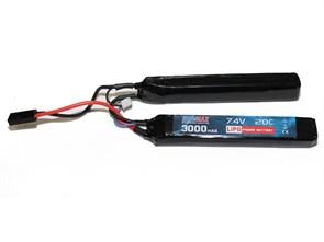 Аккумулятор 7.4В 3000 мАч 2-разд LiPo BlueMAX 20С мини-разъем / 15*21*132