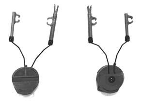 Крепления для наушников MSA SORDIN на каску FMA / черные