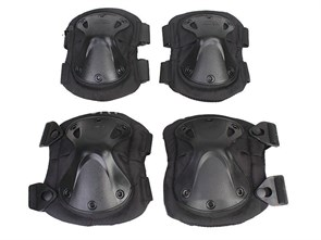 Наколенники+налокотники X-образные Emerson Tactical Takpad черные