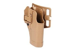Кобура поясная FMA CQC Serpa Holster пластик с быстр. доступом для Glock17 Тан