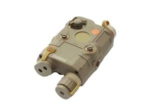 Комплекс тактический репл. PEQ-15 FMA Upgrade Version фонарь, зеленый ЛЦУ, ИК-режим / тан