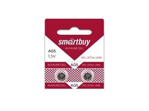 Батарейка AG5/393/LR754/LR48 Smartbuy 2шт