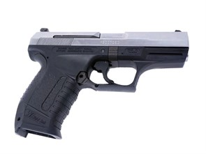 Пистолет газовый WE Walther P99 блоубек, металл, хром грин-газ