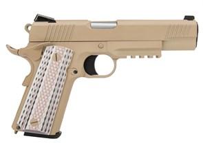 Пистолет газовый WE Colt M45A1 тан, блоубек, металл, грин-газ