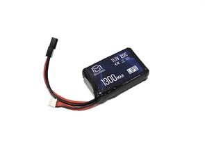 Аккумулятор 11.1В 1300мАч PEQ-тип LiPo BlueMax 20С мини-разъем / 65*43*17