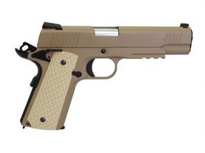 Пистолет газовый WE 1911 Kimber блоубек, металл, планка, тан, грин-газ