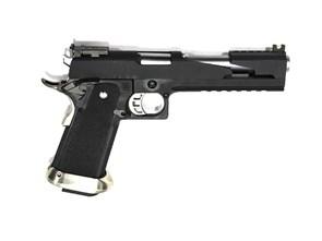 Пистолет газовый WE Hi-Capa 6.0 Dragon блоубек, металл, черный\серебро, грин-газ