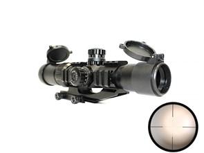 Прицел оптический 1.5-4x30 крепление, цветная подсветка