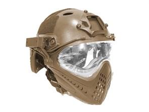 Шлем WST реплика FAST очками и маской тан
